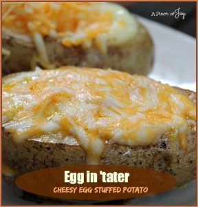 Egg in 'Tater — Cheesy Egg Stuffed Potato