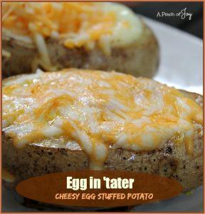 Egg in 'Tater — Cheesy Egg Stuffed Potato