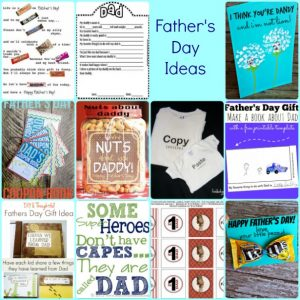 A dozen ideas for Father's Day