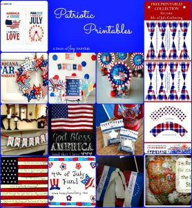 Patriotic Printables -- A Pinch of Joy Roundup