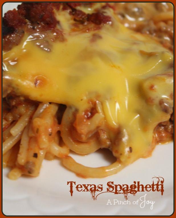 Texas Spaghetti -- A Pinch of Joy