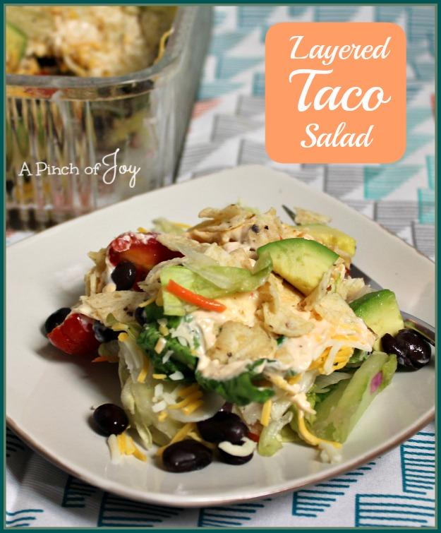 Layered Taco Salad -- A Pinch of Joy