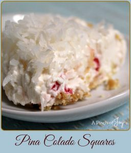 Pina Colada Squares - A Pinch of Joy