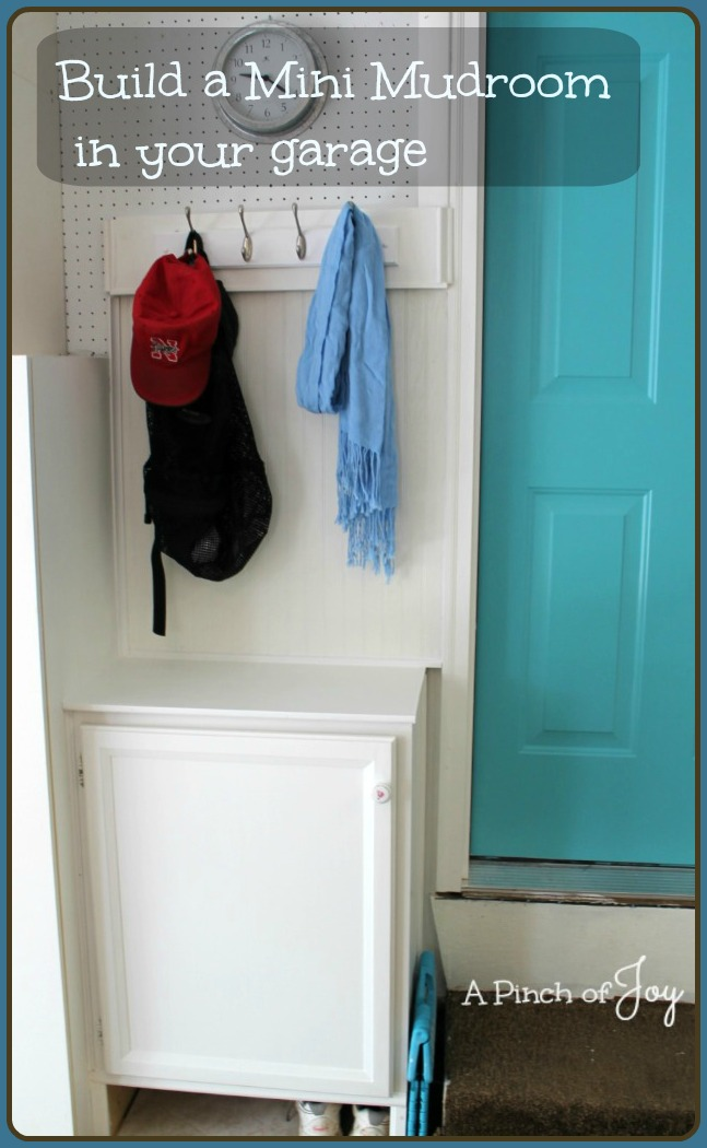 Build a Mini Mud Room - A Pinch of Joy