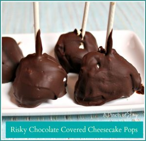 Chocolate Covered Cheesecake Pops--A Pinch of Joy