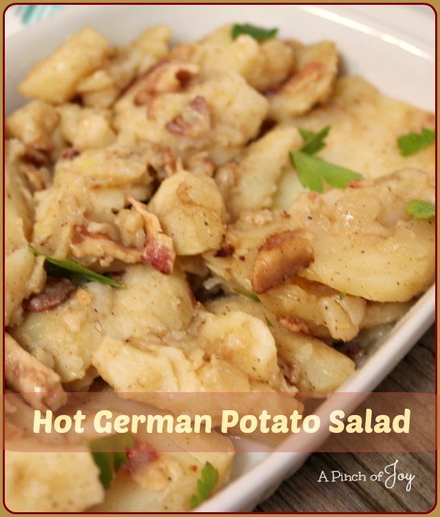 Hot German Potato Salad -- A Pinch of Joy