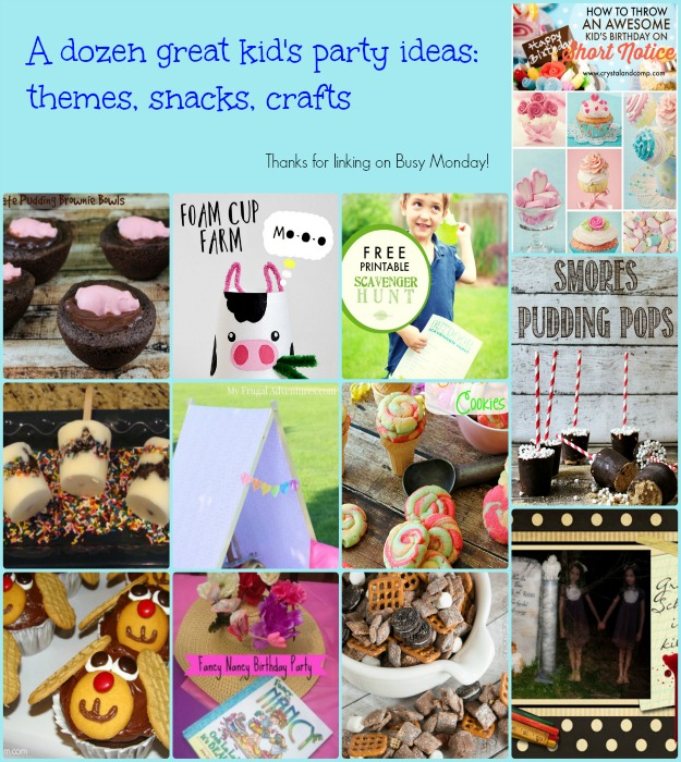 Kid's Party Ideas -- A Pinch of Joy Roundup