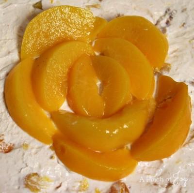 Peaches and Cream Cheesecake2 -- A Pinch of Joy