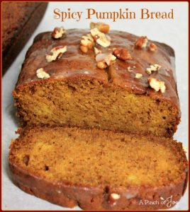 Spicy Pumpkin Bread -- A Pinch of Joy