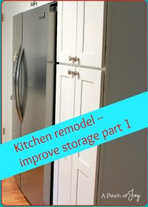 Kitchen remodel - Six steps to improve storage -- A Pinch of Joy