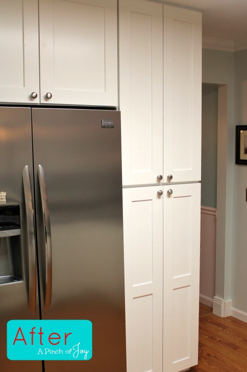 Pantry wall After Kitchen Remodel -- A Pinch of Joy