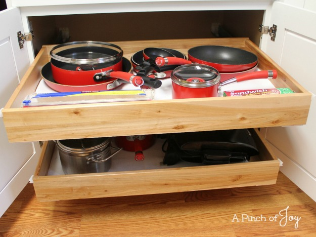 4Storage for Pots and Pans -- A Pinch of Joy