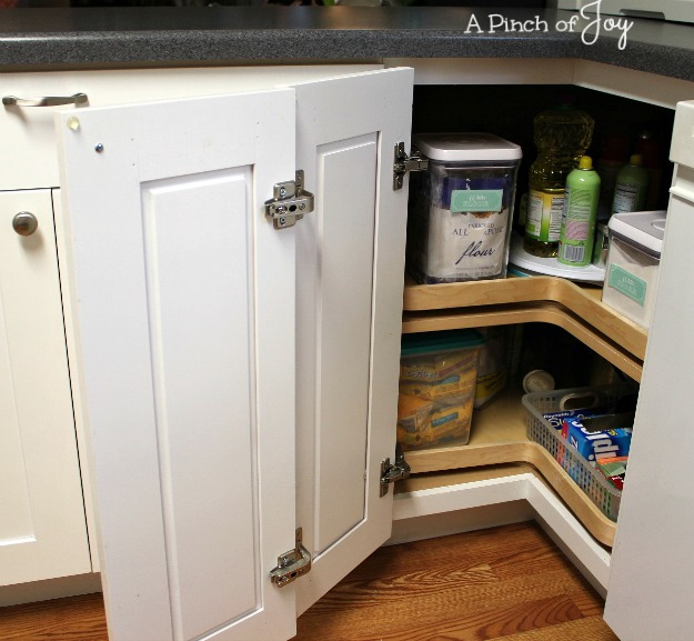 Corner Lazy susan Kitchen Storage - A Pinch of Joy