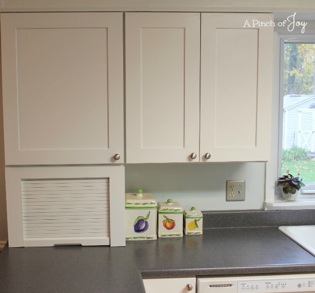 7Upper Cabinet Kitchen Storage -- A Pinch of Joy Storage
