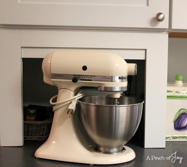 Kitchen Storage -- Appliance Garage -- A Pinch of Joy