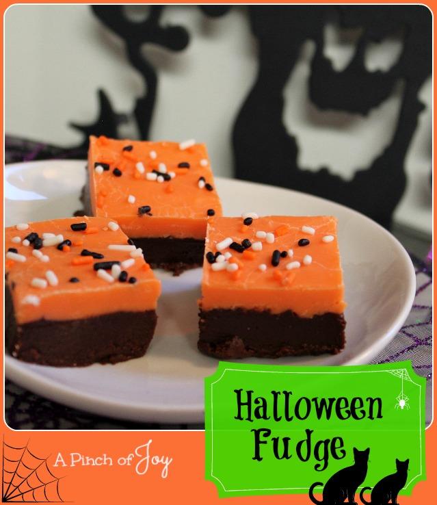 Halloween Fudge -- A Pinch of Joy