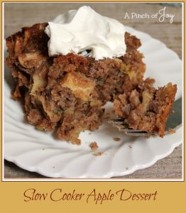 Slow Cooker Apple Dessert -- A Pinch of Joy