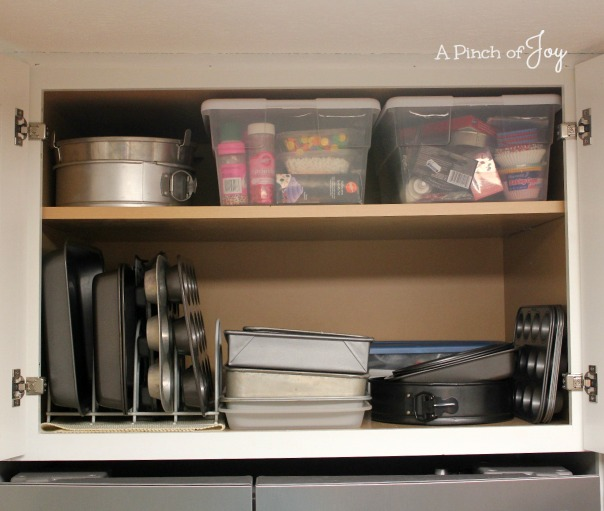 "24"" deep Storage above refrigerator -- A Pinch of Joy"