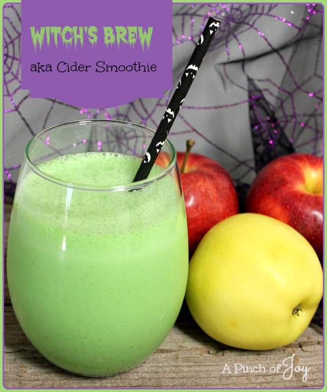 Witch's Brew aka Cider Smoothie -- A Pinch of Joy