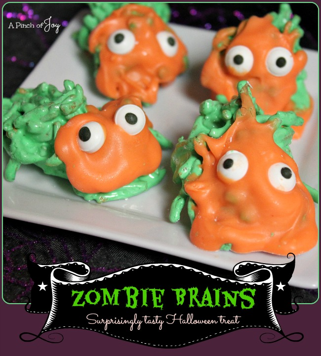 Zombie Brains -- A Pinch of Joy Surprisingly tasty Halloween treat!