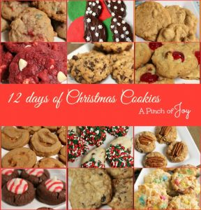 12 Days of Christmas Cookies -- A Pinch of Joy