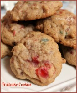 Fruitcake Cookies -- A Pinch of Joy