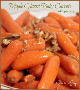 Maple Glazed Baby Carrots -- A Pinch of Joy