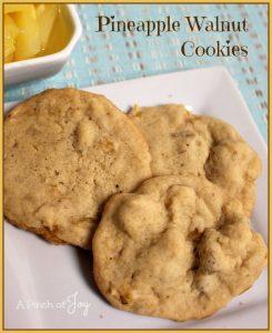 Pineapple Walnut Cookies
