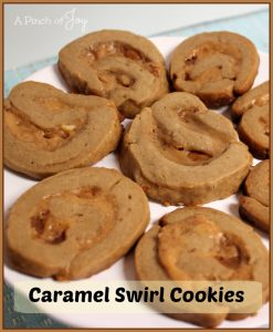 Caramel Swirl Cookies -- A Pinch of Joy