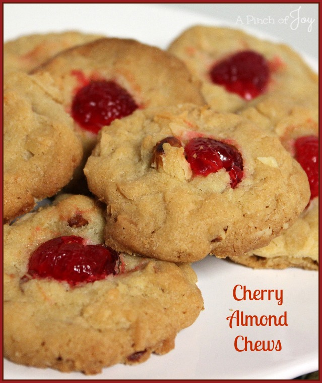 Cherry Almond Chews -- A Pinch of Joy