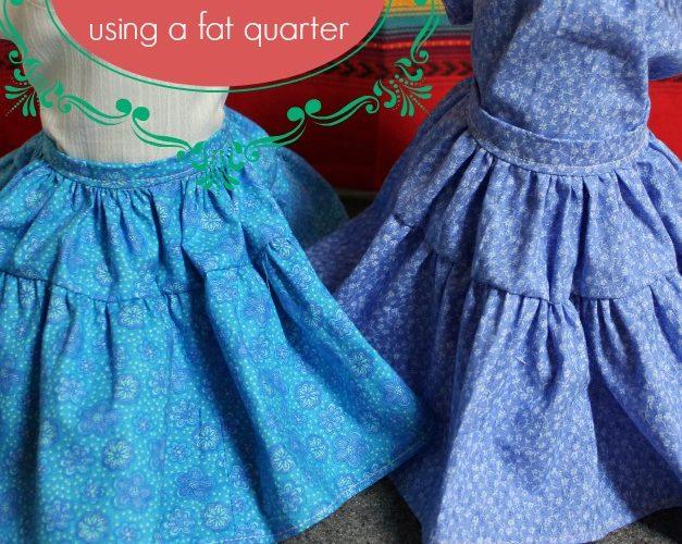 Fiesta Skirt for 18″ doll using fat quarter