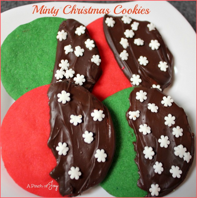 Minty Christmas Cookies -- A Pinch of Joy