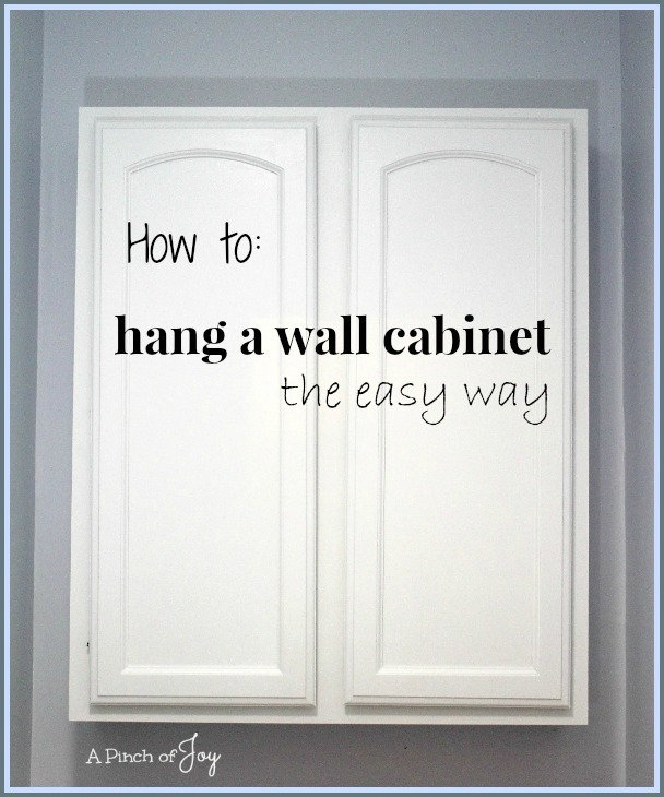 How-to-hang-a-wall-cabinet