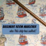 1Basement Room Makeover -- A Pinch of Joy