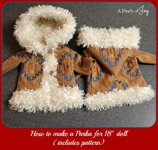 How-to-make-a-Parka-for-18-doll-A-Pinch-of-Joy