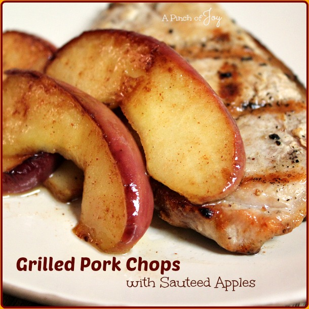 Grilled Pork Chops with Sauteed Apples — A Bytes quick and easy ...