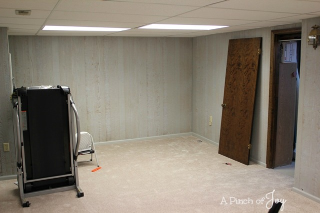 7 Basement Makeover -- a Pinch of Joy