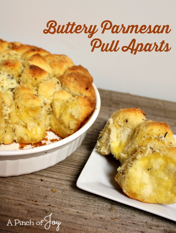 Buttery Parmesan Pull Aparts -- A Pinch of Joy