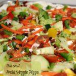 Thin Crust Fresh Veggie Pizza -- A Pinch of Joy