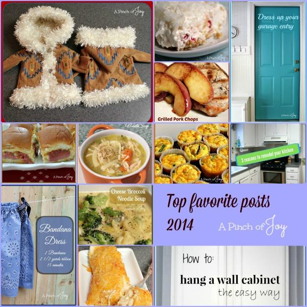 top favorite posts 2014 -- A Pinch of Joy