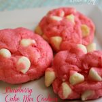 Strawberry Cake Mix Cookies - A Pinch of Joy