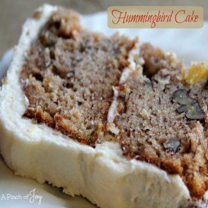 Hummingbird Cake -- A Pinch of Joy