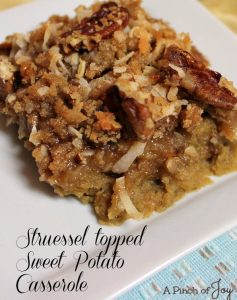 Struessel Topped Sweet Potato Casserole