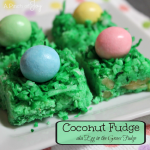 Coconut Fudge aka Egg in the Grass Fudge -- A Pinch of Joy