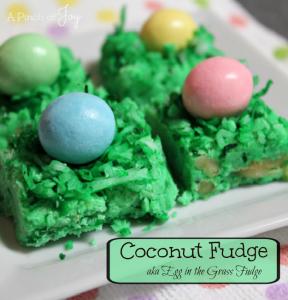 Coconut Fudge aka Egg in the Grass Fudge -- A Pinch of Joy