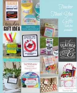 Teacher Thank You Gifts -- Roundup by a Pinch of Joy