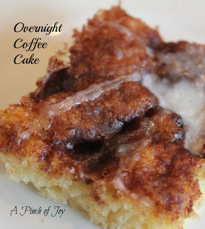 Overnight Cinnamon Coffee Cake -- A Pinch of Joy