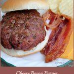 Cheese Bacon Burger -- A Pinch of Joy