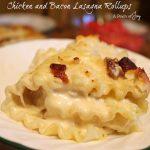 Chicken and Bacon Lasagna Rollups -- A Pinch of Joy
