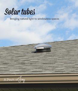 Solar light tubes - A Pinch of Joy